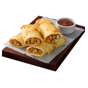 test, Pizza Hut, 1 chicken BBQ rolls+ BBQ Sauce