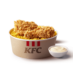 For One,KFC,Chicken Rice Meal