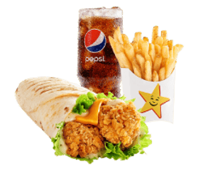 Combo, Chicken, Hardees, تشيكن تندر راب كومبو