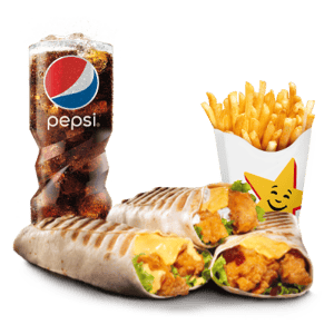Combo, Chicken, Hardees, Chicken Tender Wrap Combo