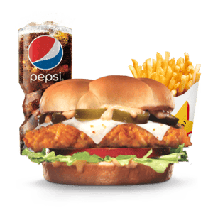 Combo, Chicken, Hardees, هالبينو تشيكن ساندوتش  كومبو
