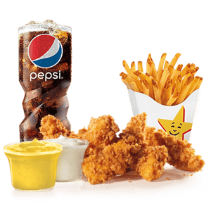 Combo, Chicken, Hardees,  5 قطع تشيكن تندر