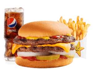 Combo, Chargrilled Burgers, Hardees, Classic Double Cheeseburger Combo