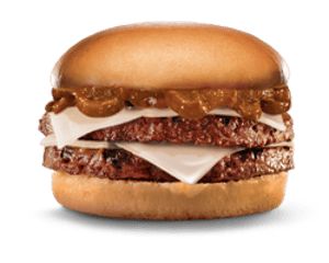 Sandwich, Chargrilled Burgers, Hardees, Mushroom Double Cheeseburger
