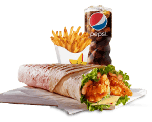 Combo, Deals, Hardees, Santa Fe Wrapper Combo