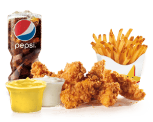Combo, Chicken, Hardees, Spicy Chicken Tenders