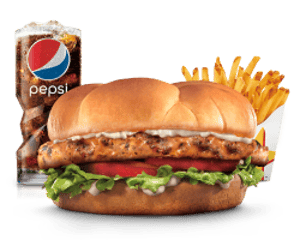Combo, Chicken, Hardees, Grilled Chicken Fillet Combo