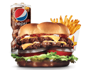 Combo, Chargrilled Burgers, Hardees, Super Star ® Burger Combo