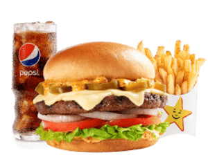 Combo, Angus Burgers, Hardees, Jalapeno Angus Thickburger ® Combo