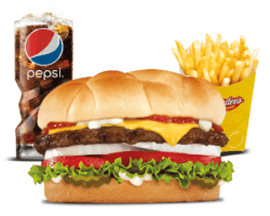 Combo, Chargrilled Burgers, Hardees, Famous Star With Cheese Combo