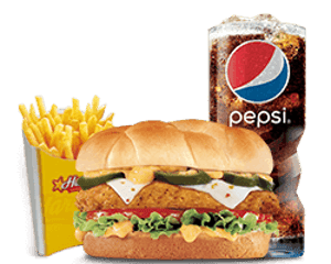 Combo, Chicken, Hardees, Jalapeno Chicken Sandwich Combo