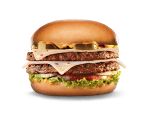 Sandwich, Chargrilled Burgers, Hardees, Jalapeno Double Cheeseburger