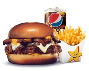 Combo, Chargrilled Burgers, Hardees, The Epic Burger Combo