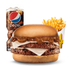Combo, Chargrilled Burgers, Hardees, Jalapeno Double Cheese burger Combo